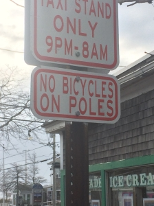 No Bicycles on Poles
